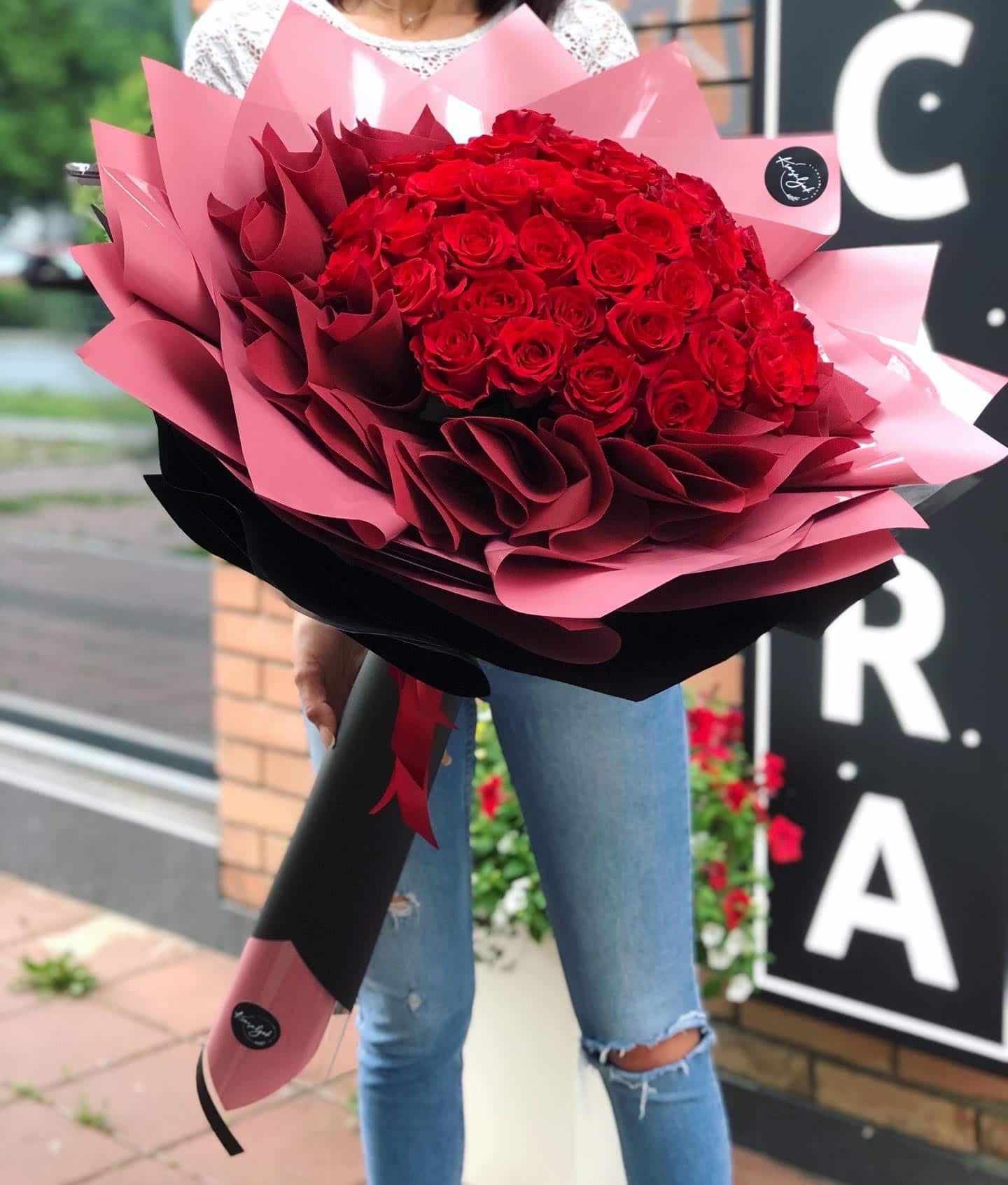 Cveće - buket crvenih ruža