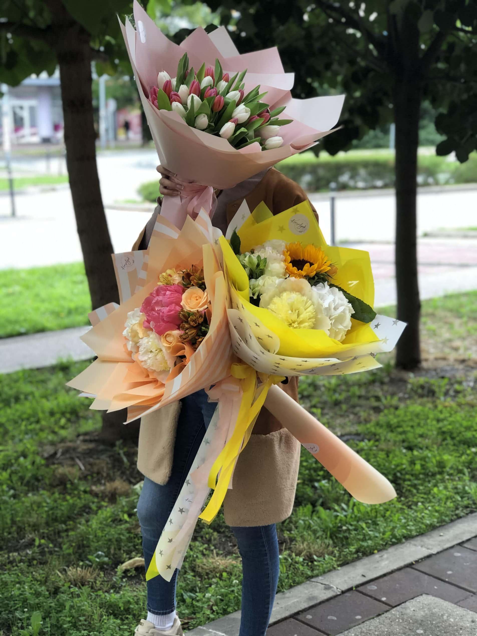 Cvece - bozuri, suncokreti, ruže, žuto, narandžasto